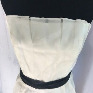 Strapless cream midi dress NWT